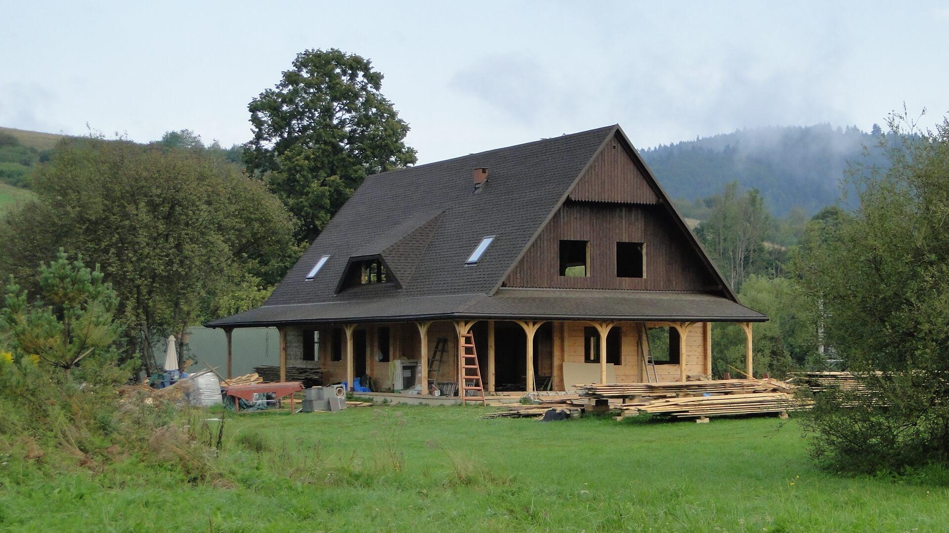 Nowe skrzydło chaty gotowe wstanie surowym!