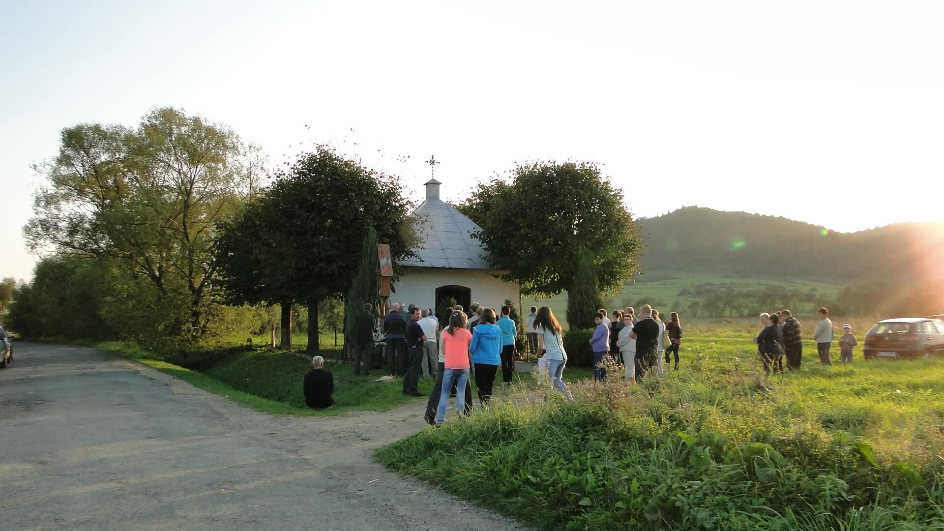 Jaśliskie kapliczki na Łamańcach i na Wierzchgórze