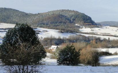 Piękny, zimowy dzień w listopadzie 2