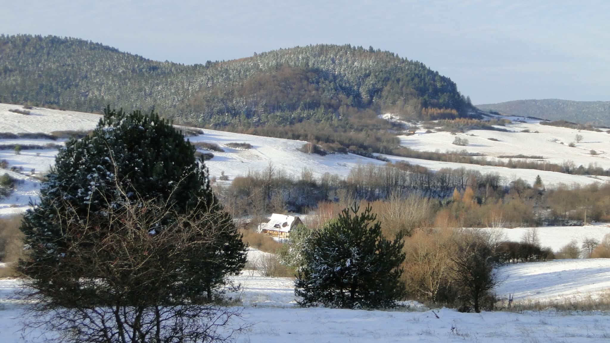 Piękny, zimowy dzień wlistopadzie 2