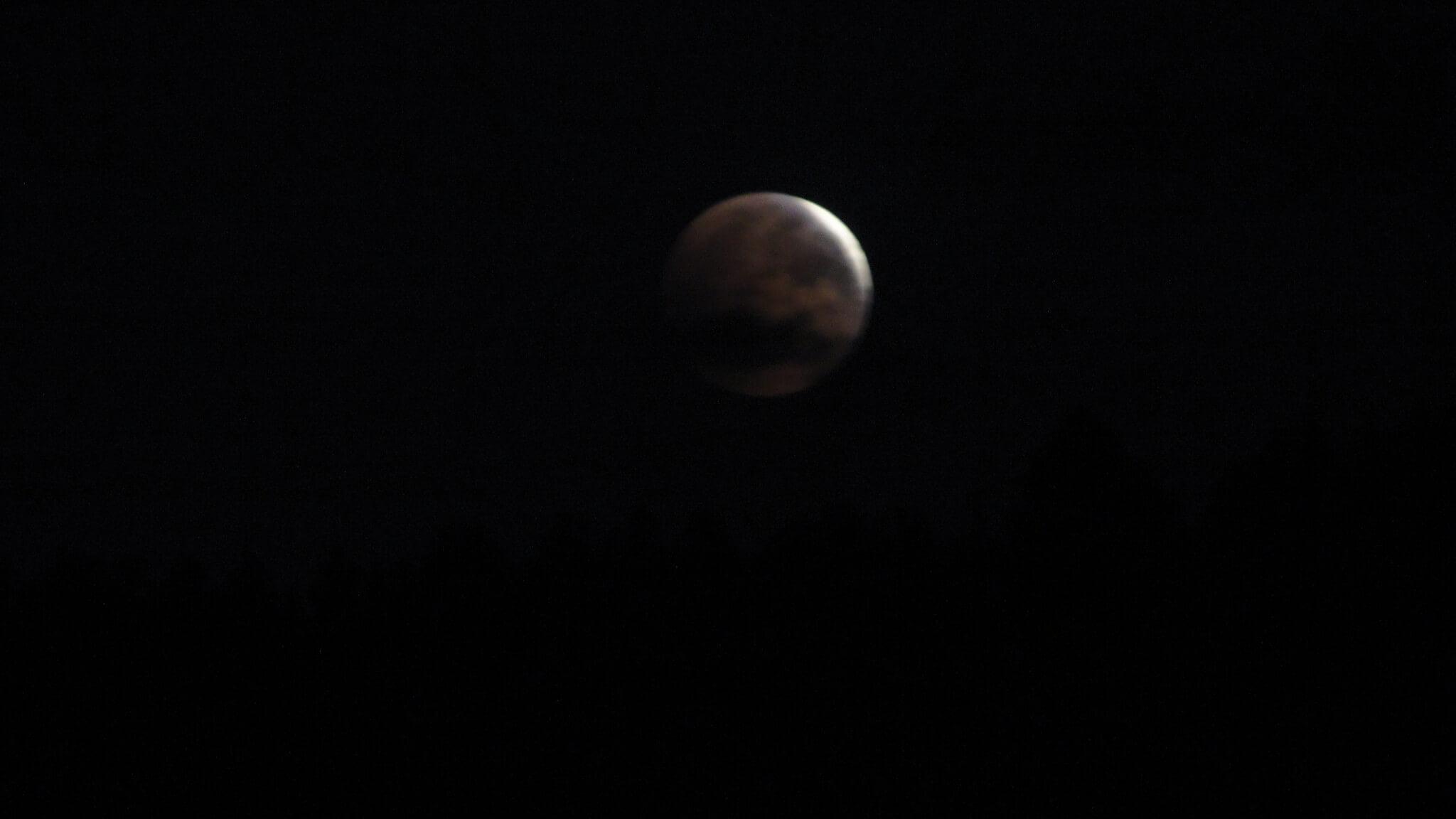 Zaćmienie księżyca widziane zGutkowej Koliby 4