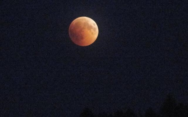 Zaćmienie księżyca widziane z Gutkowej Koliby 3
