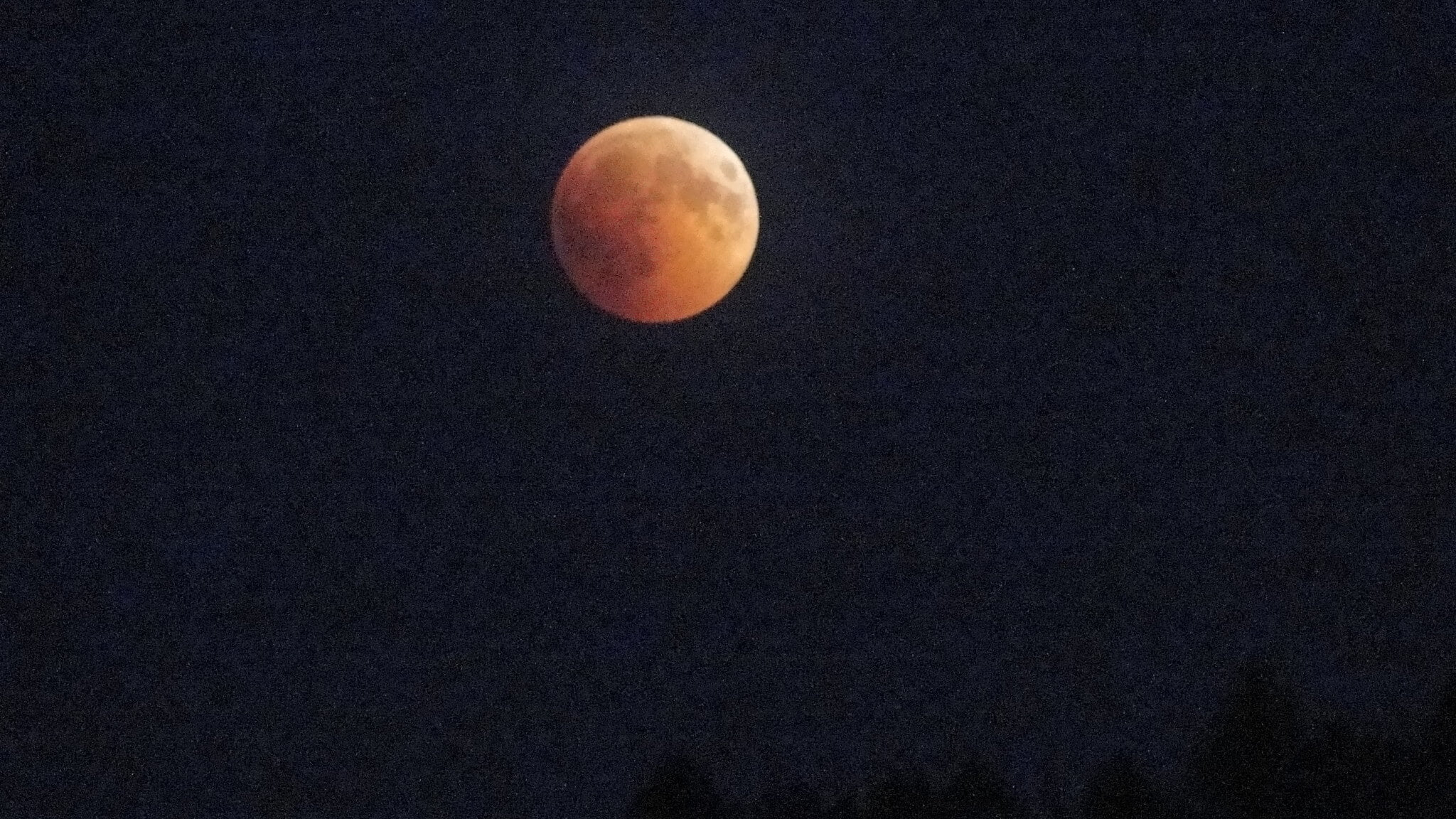 Zaćmienie księżyca widziane zGutkowej Koliby 3