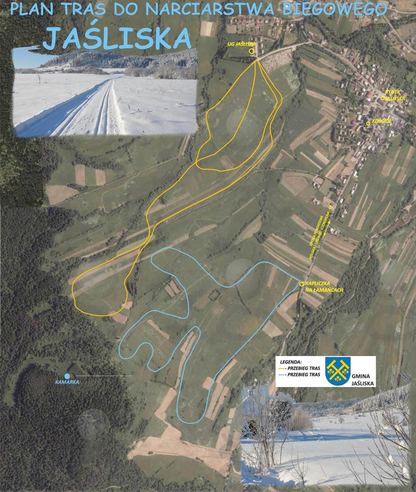 Trasy donarciarstwa biegowego nastokach Kamarki