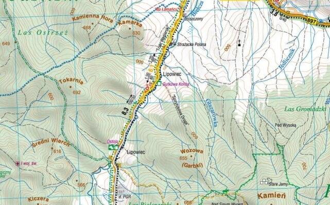 Gutkowa Koliba na mapie Beskidu Niskiego! 1