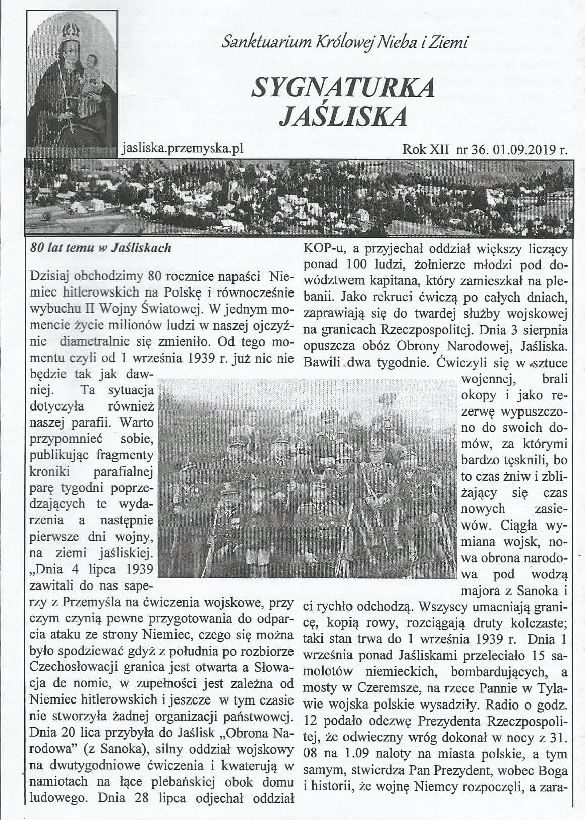 Jak zaczęła się II wojna światowa wokolicach Jaślisk?