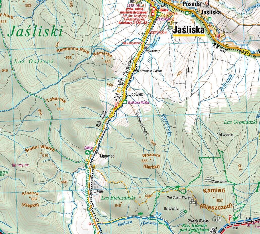 Mapy Beskidu Niskiego: stare i całkiem nowe