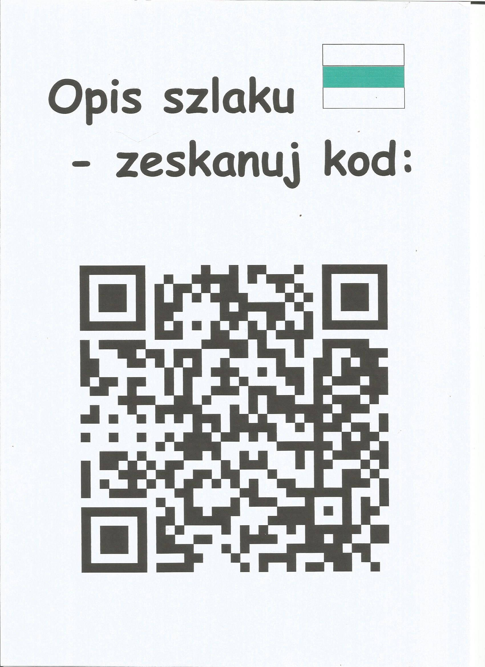 Zeskanuj kod QR poopis naszego szlaku 4